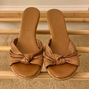 Cathy Jean Cork Wedges - Size 7